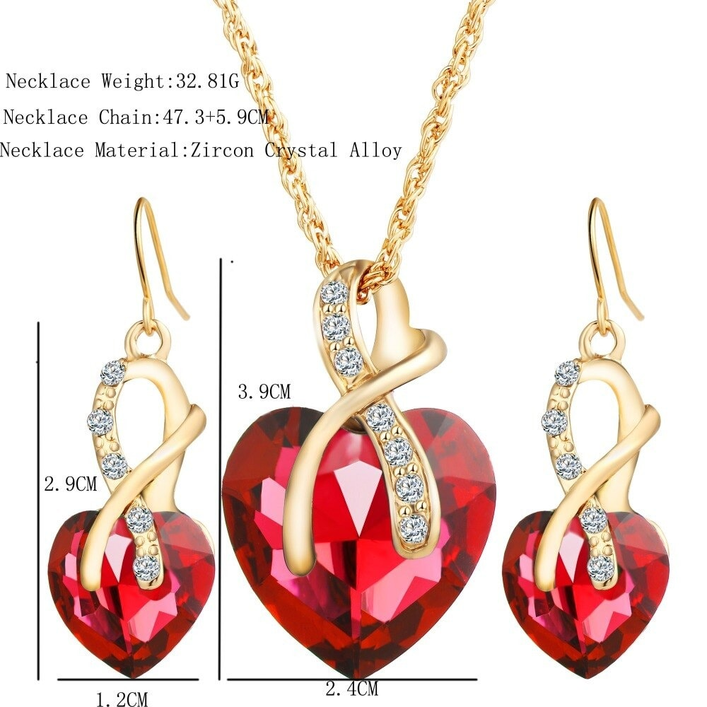 M0314 red4 Jewelry Accessories Jewelry Sets maureens.com boutique