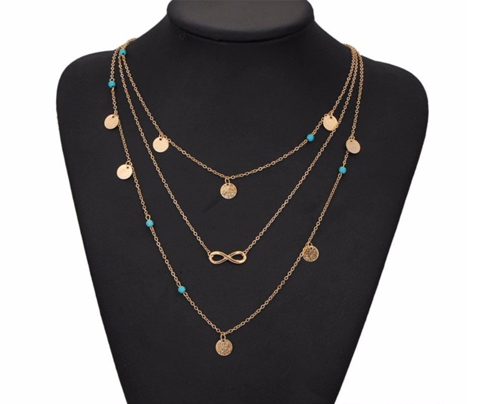 M0315 gold 1sty1 Jewelry Accessories Necklaces Chokers maureens.com boutique
