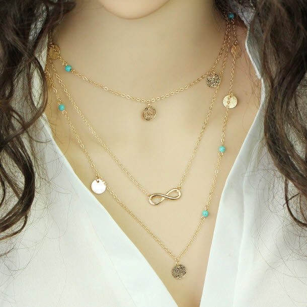 M0315 gold 1sty7 Jewelry Accessories Necklaces Chokers maureens.com boutique