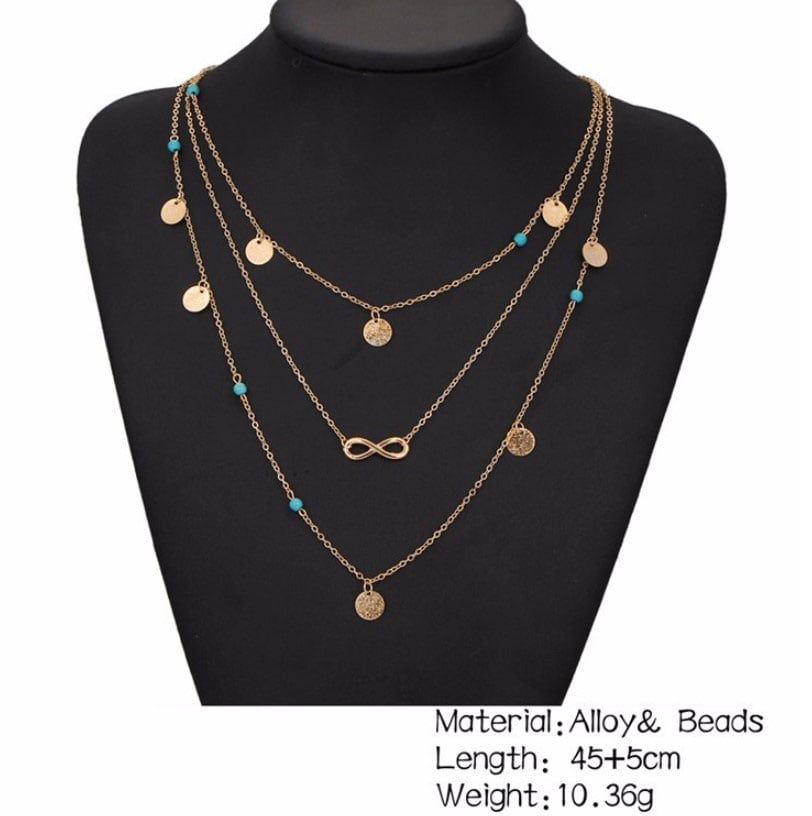 M0315 gold 1sty8 Jewelry Accessories Necklaces Chokers maureens.com boutique