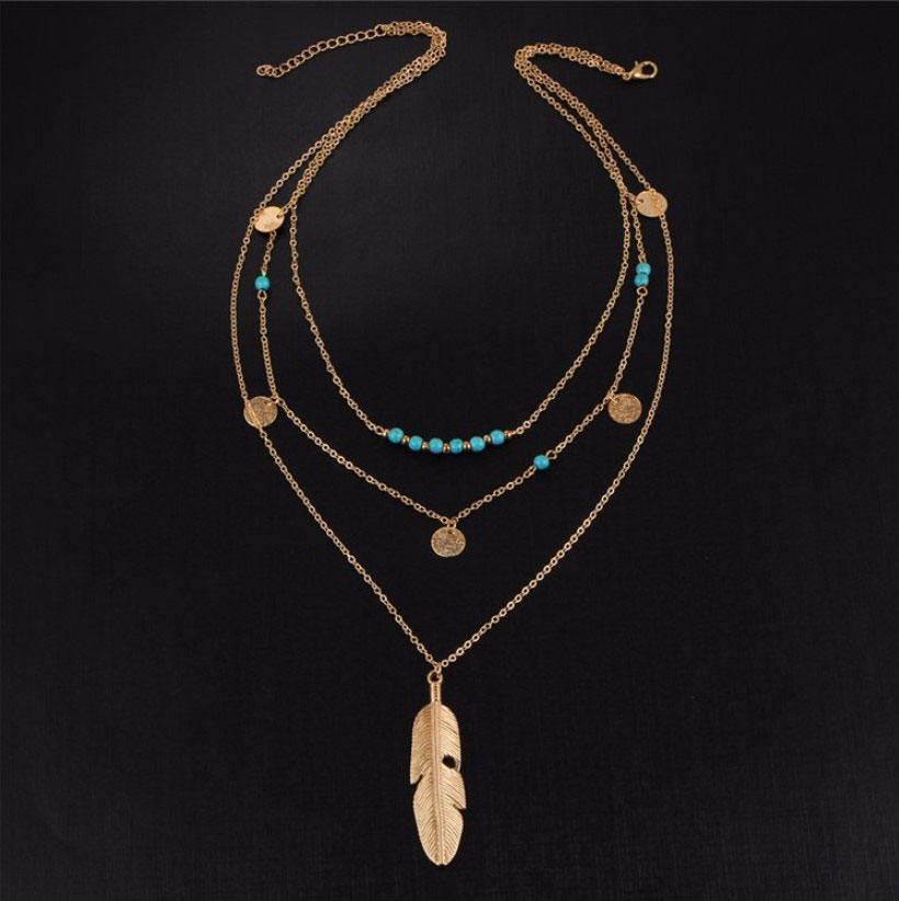 M0315 gold 2sty5 Jewelry Accessories Necklaces Chokers maureens.com boutique