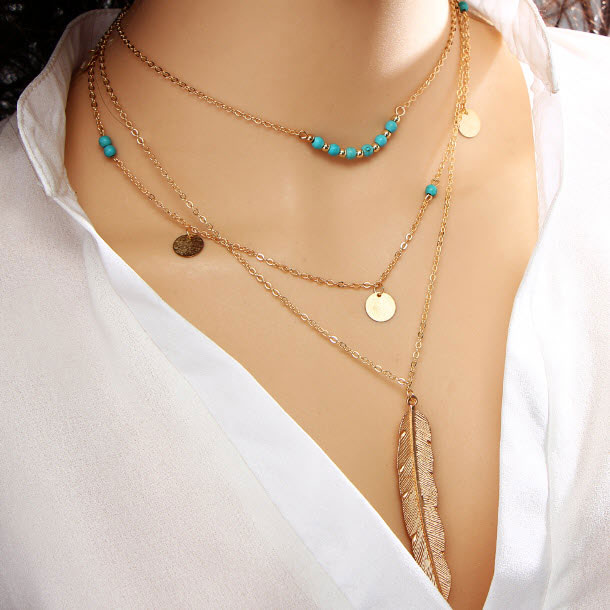 M0315 gold 2sty6 Jewelry Accessories Necklaces Chokers maureens.com boutique
