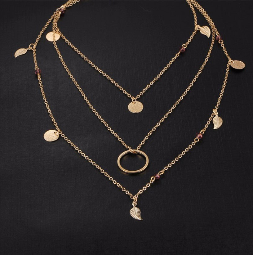 M0315 gold 3sty3 Jewelry Accessories Necklaces Chokers maureens.com boutique