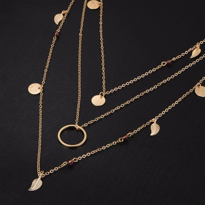 M0315 gold 3sty4 Jewelry Accessories Necklaces Chokers maureens.com boutique