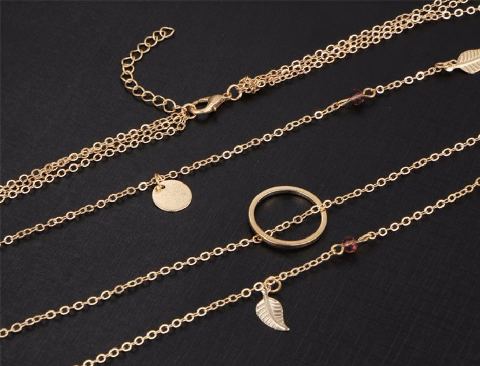 M0315 gold 3sty5 Jewelry Accessories Necklaces Chokers maureens.com boutique