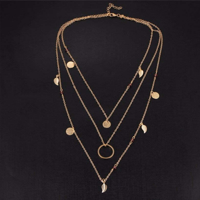 M0315 gold 3sty7 Jewelry Accessories Necklaces Chokers maureens.com boutique