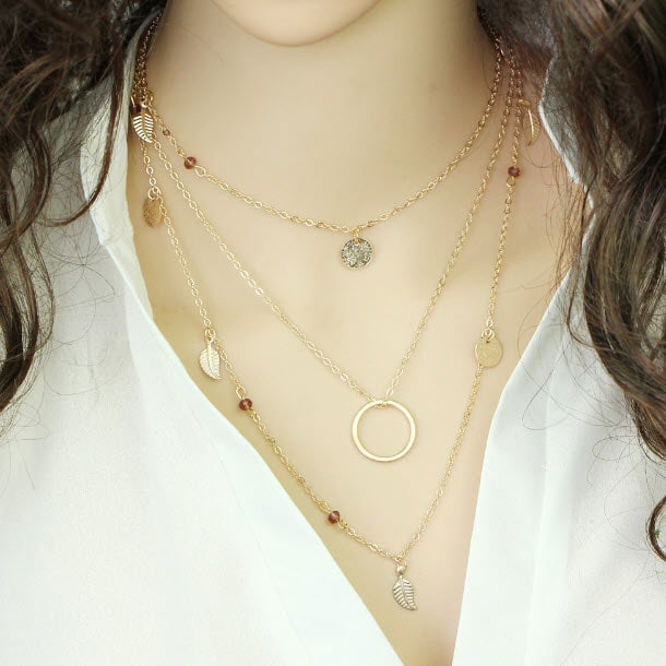 M0315 gold 3sty8 Jewelry Accessories Necklaces Chokers maureens.com boutique