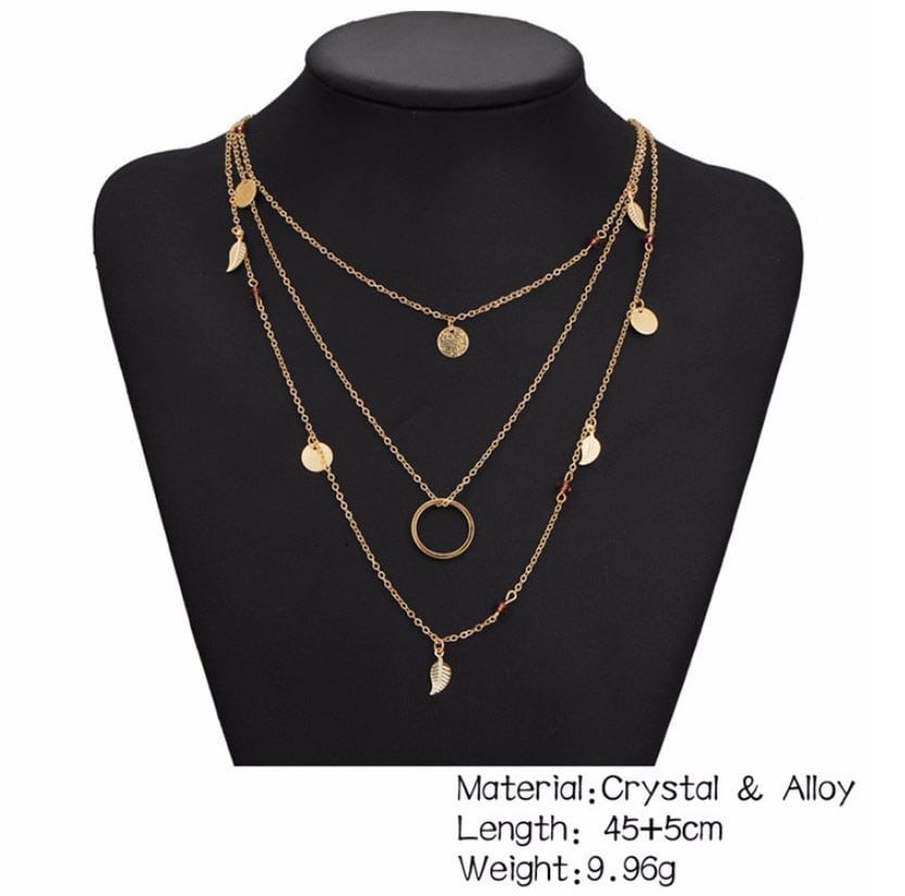 M0315 gold 3sty9 Jewelry Accessories Necklaces Chokers maureens.com boutique