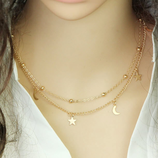 M0315 gold 4sty6 Jewelry Accessories Necklaces Chokers maureens.com boutique