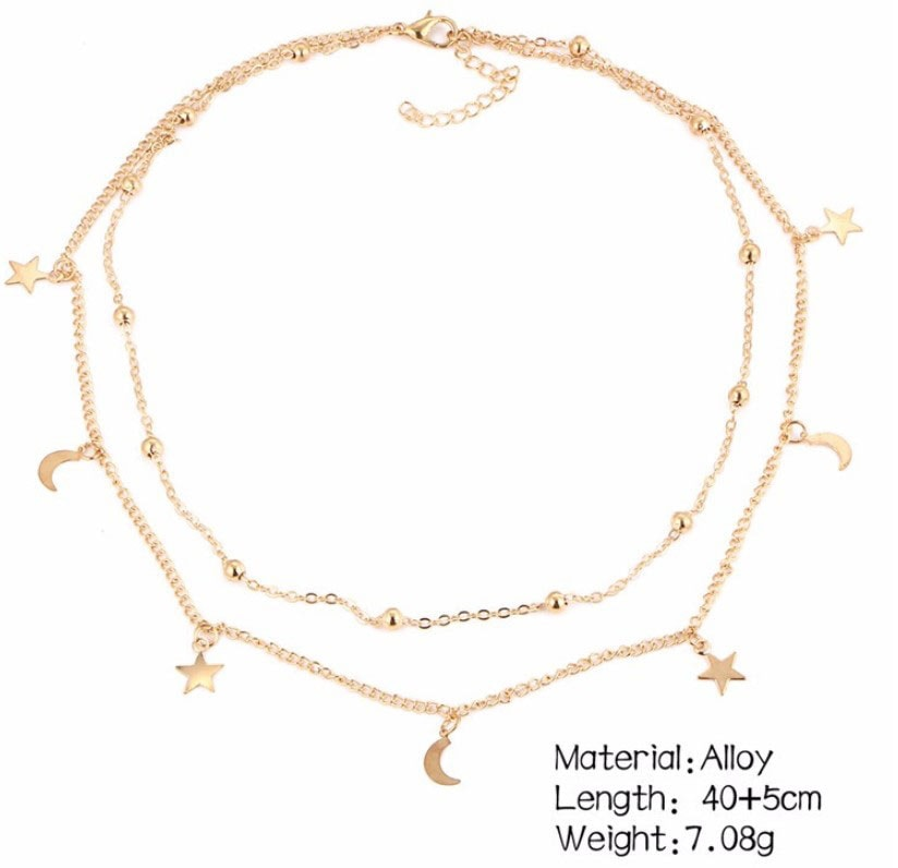 M0315 gold 4sty8 Jewelry Accessories Necklaces Chokers maureens.com boutique