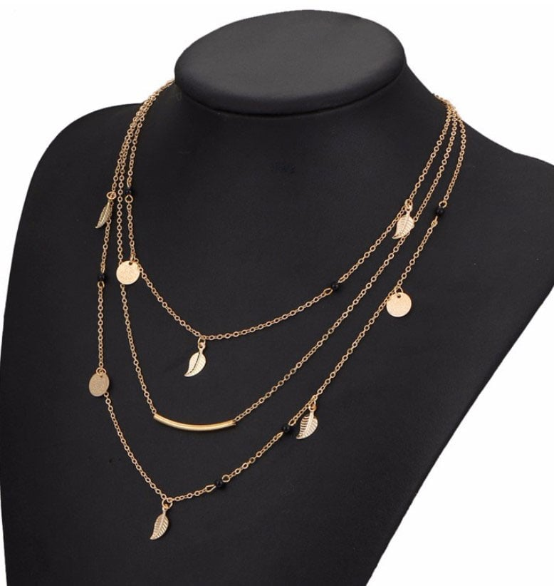 M0315 gold 5sty1 Jewelry Accessories Necklaces Chokers maureens.com boutique