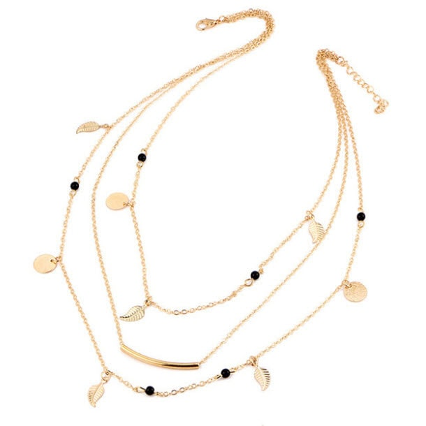M0315 gold 5sty2 Jewelry Accessories Necklaces Chokers maureens.com boutique