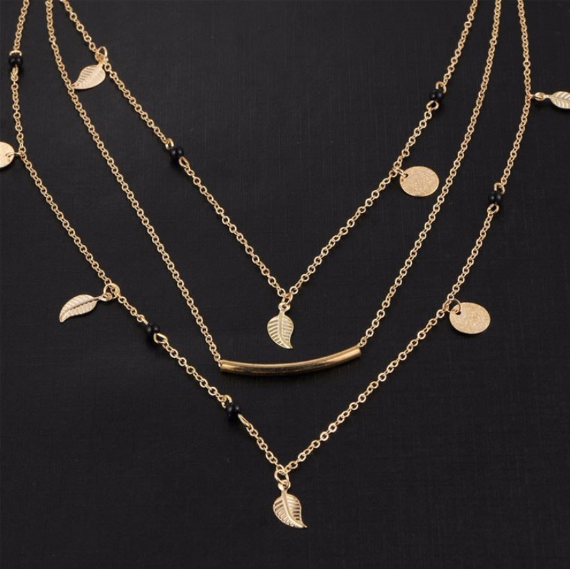 M0315 gold 5sty3 Jewelry Accessories Necklaces Chokers maureens.com boutique