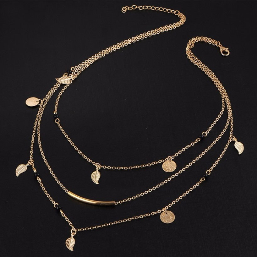M0315 gold 5sty6 Jewelry Accessories Necklaces Chokers maureens.com boutique