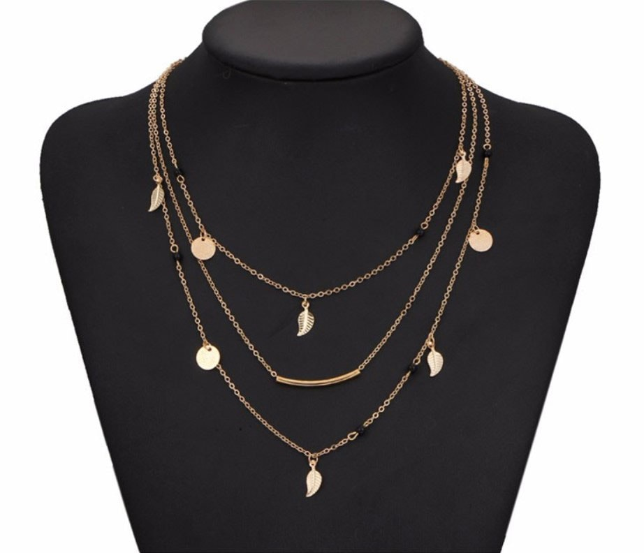M0315 gold 5sty7 Jewelry Accessories Necklaces Chokers maureens.com boutique