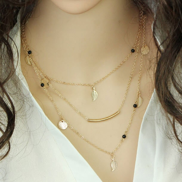 M0315 gold 5sty8 Jewelry Accessories Necklaces Chokers maureens.com boutique