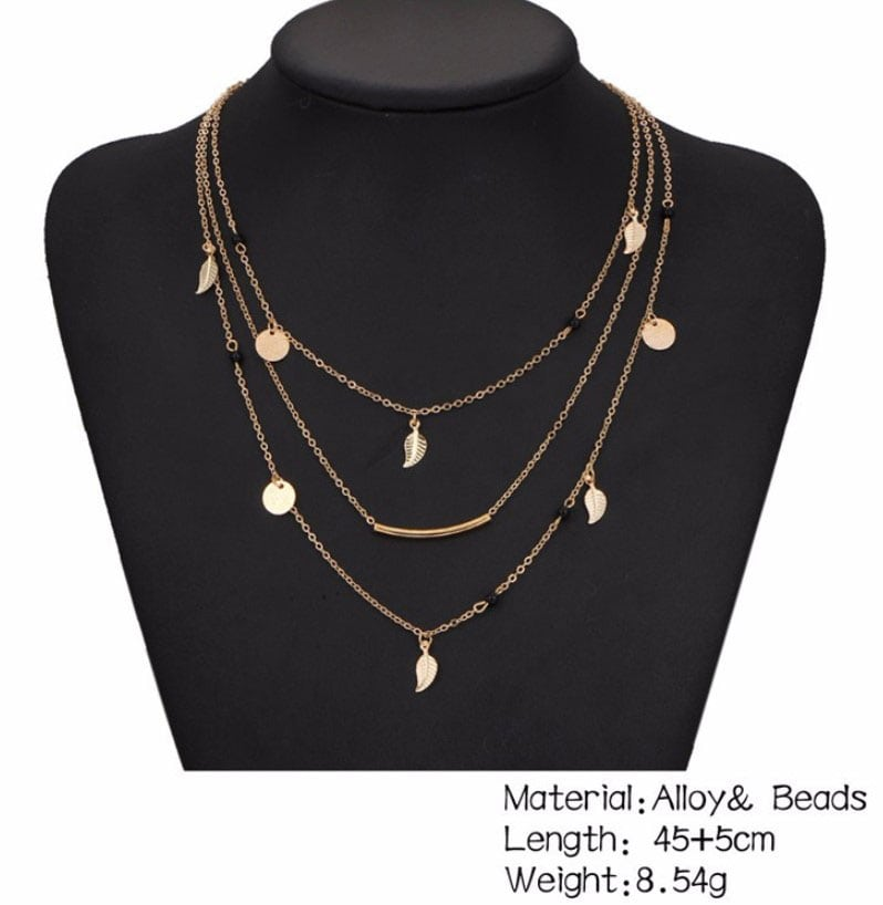 M0315 gold 5sty9 Jewelry Accessories Necklaces Chokers maureens.com boutique