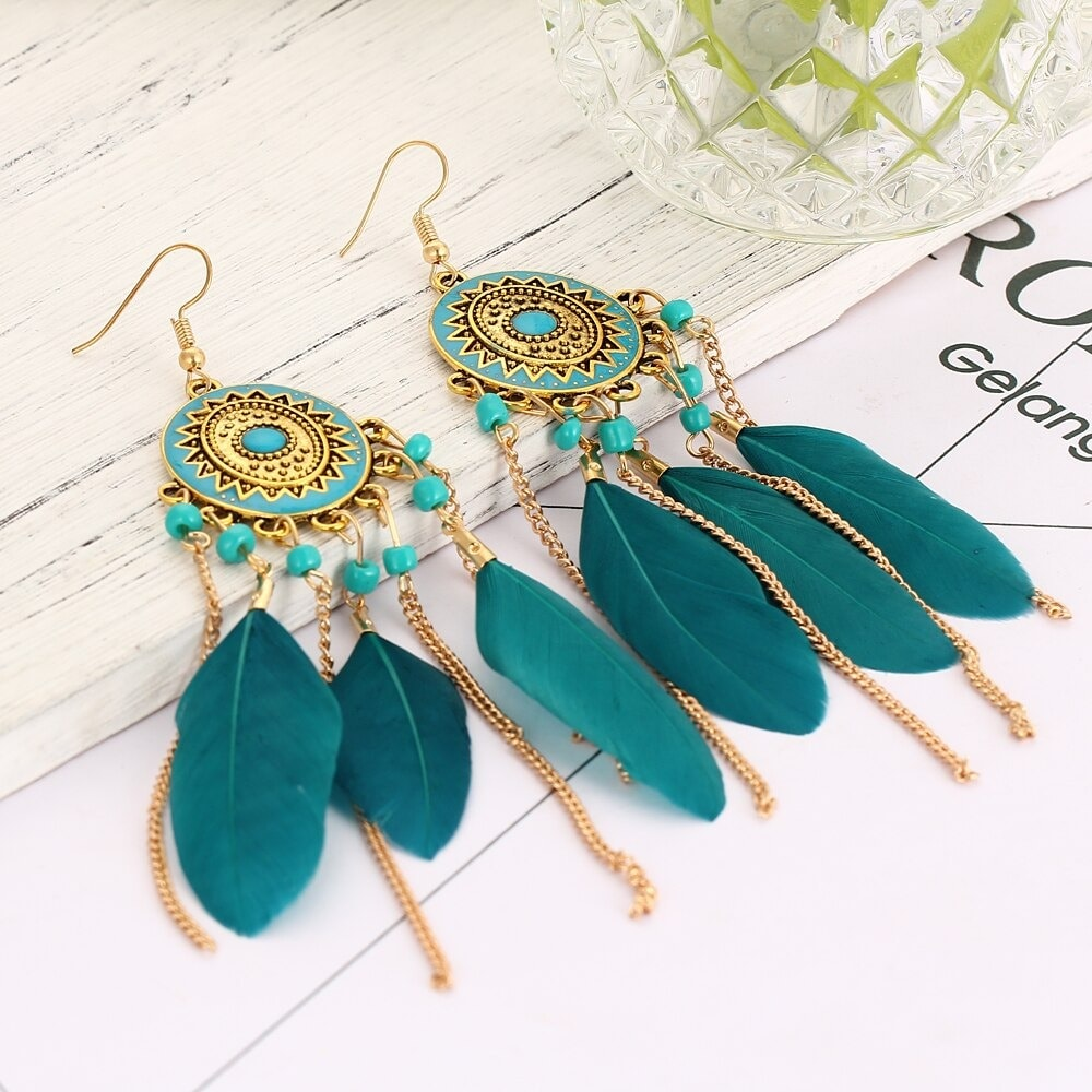 M0316 green3 Jewelry Accessories Earrings maureens.com boutique