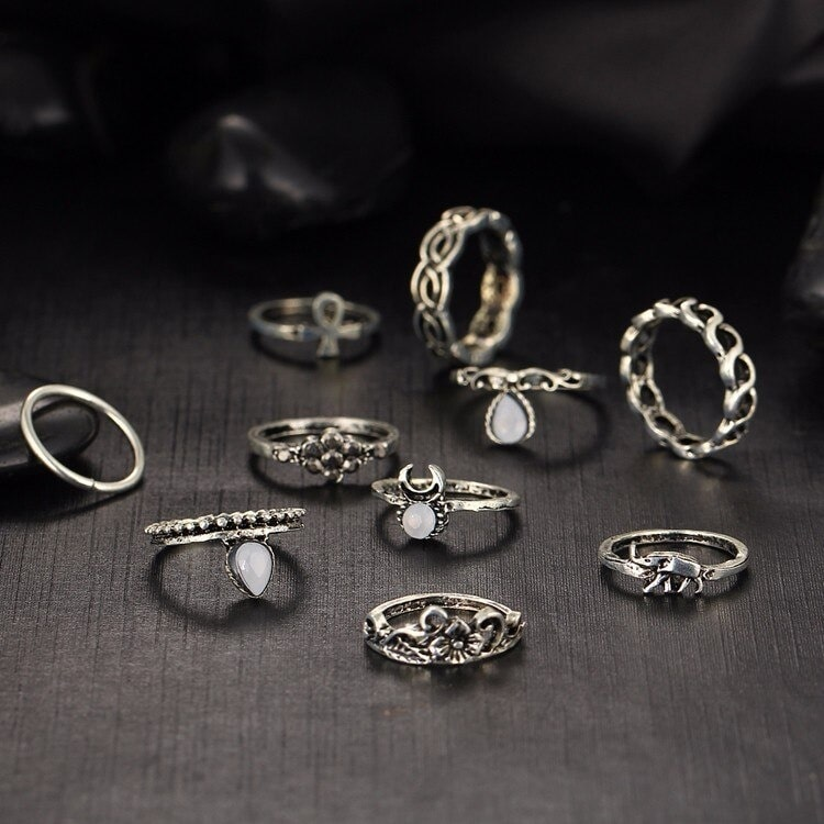 M0317 silver3 Jewelry Sets Rings maureens.com boutique