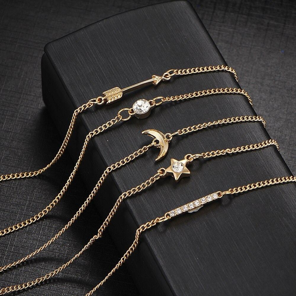 M0327 gold2 Jewelry Sets Bracelets maureens.com boutique