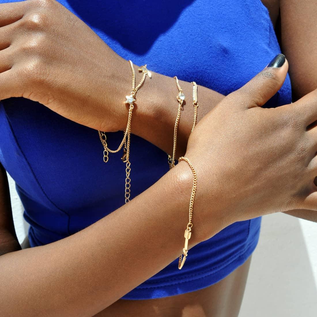 M0327 gold8 Jewelry Sets Bracelets maureens.com boutique