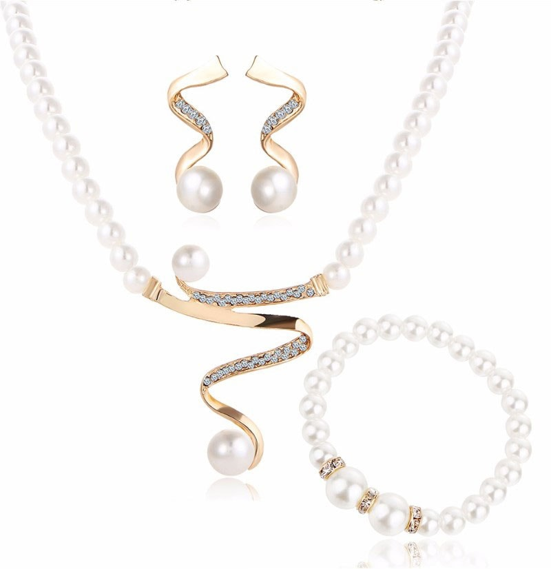 M0328 goldwhite1 Jewelry Accessories Jewelry Sets maureens.com boutique