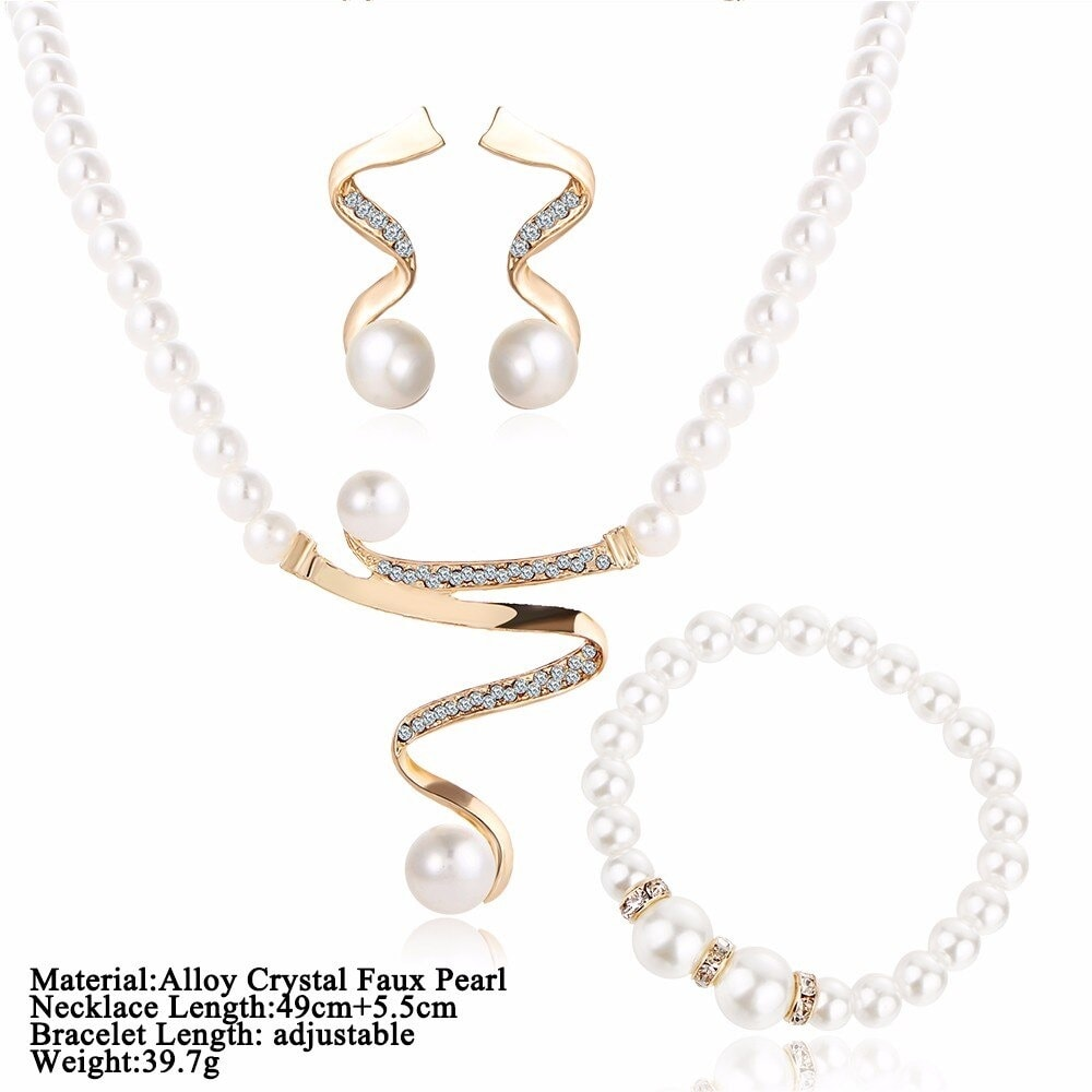 M0328 goldwhite11 Jewelry Accessories Jewelry Sets maureens.com boutique