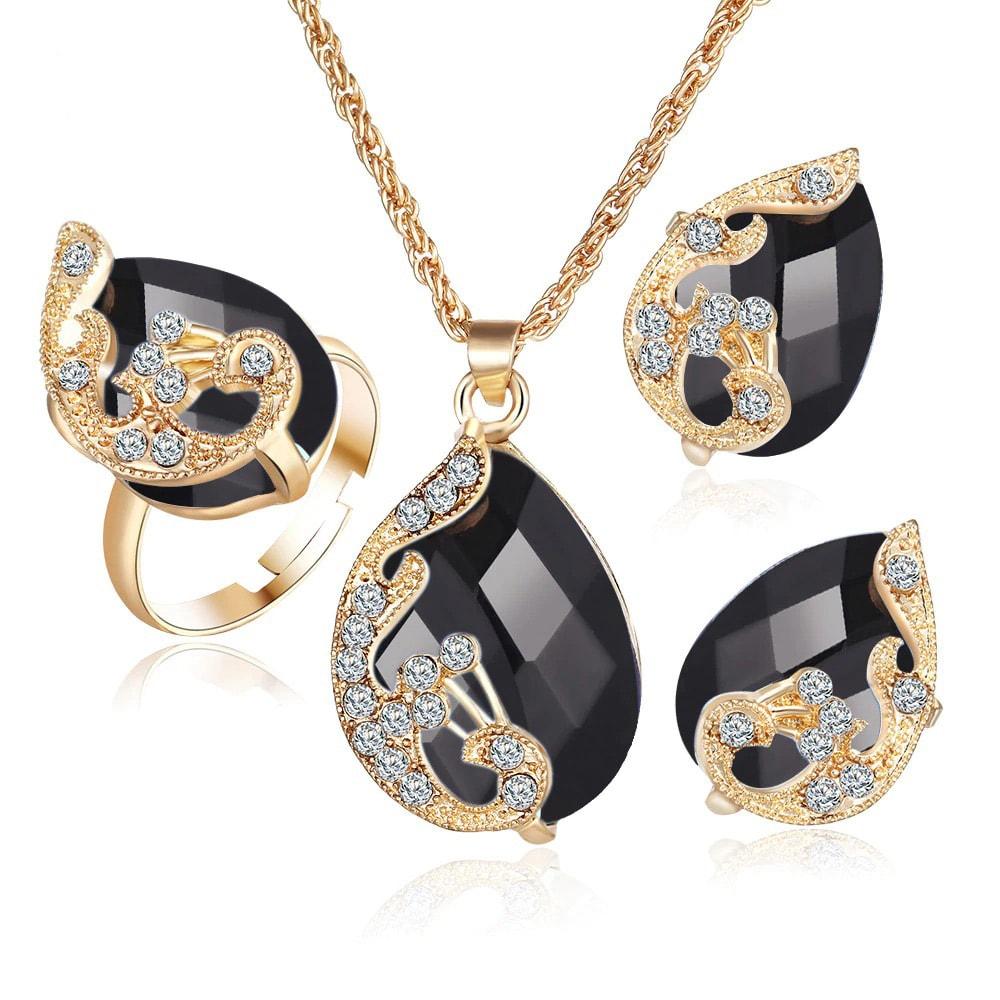 M0329 black1 Jewelry Accessories Jewelry Sets maureens.com boutique