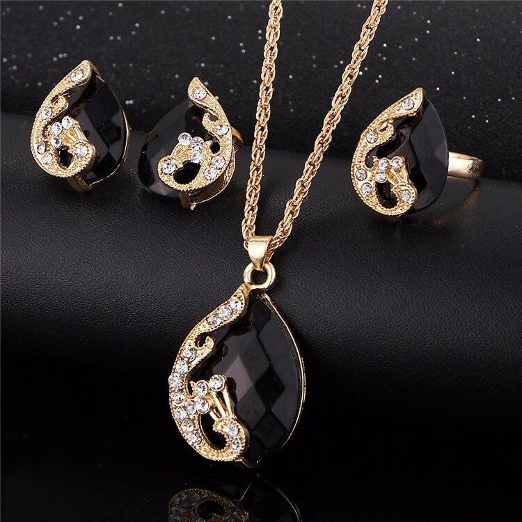 M0329 black2 Jewelry Accessories Jewelry Sets maureens.com boutique