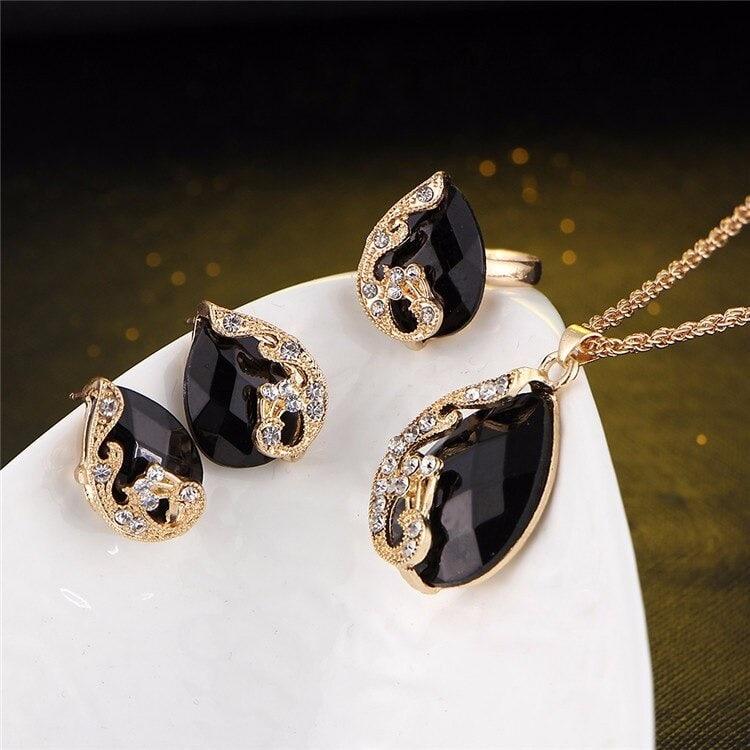 M0329 black3 Jewelry Accessories Jewelry Sets maureens.com boutique