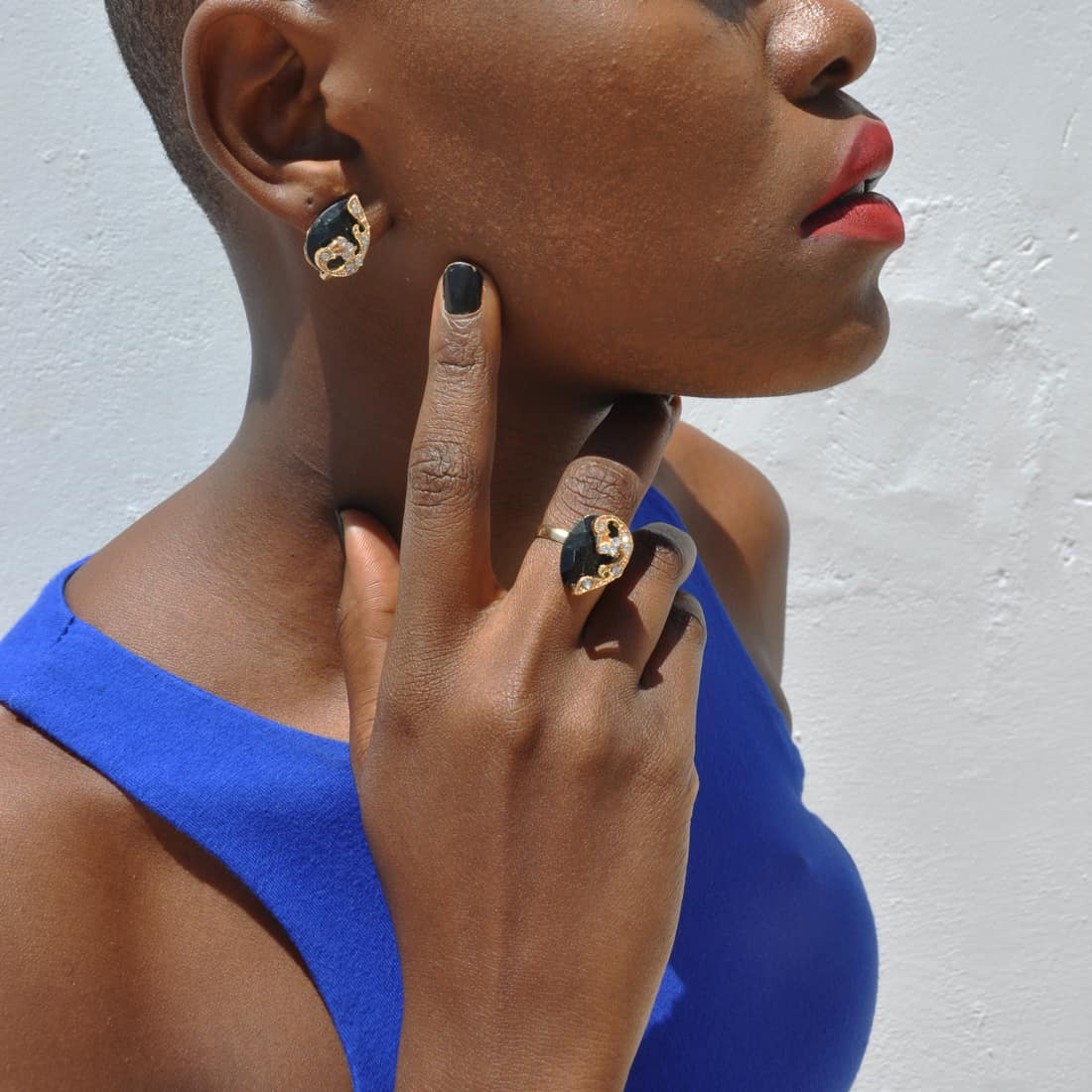M0329 black5 Jewelry Accessories Jewelry Sets maureens.com boutique
