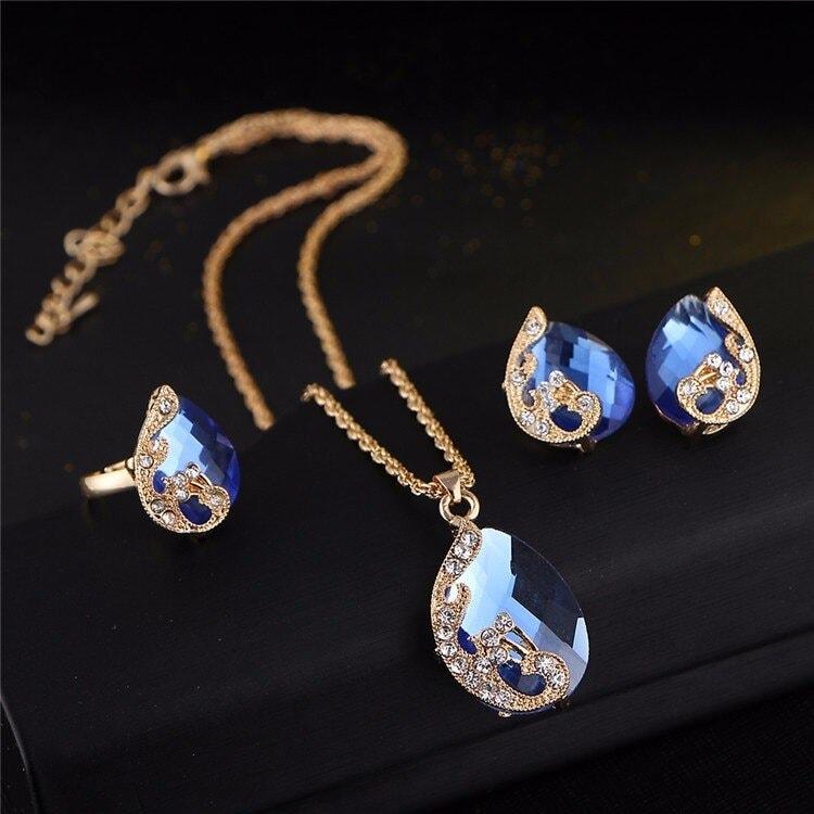 M0329 blue3 Jewelry Accessories Jewelry Sets maureens.com boutique