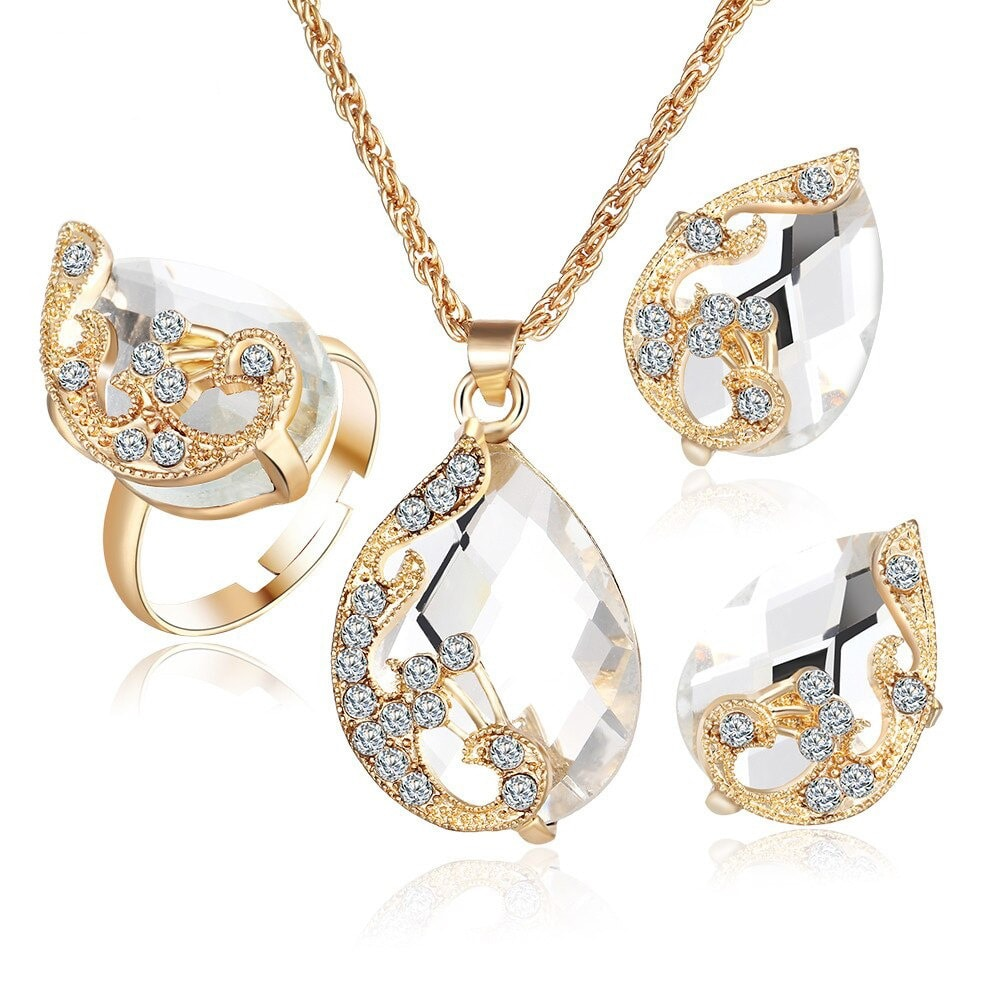 M0329 white1 Jewelry Accessories Jewelry Sets maureens.com boutique