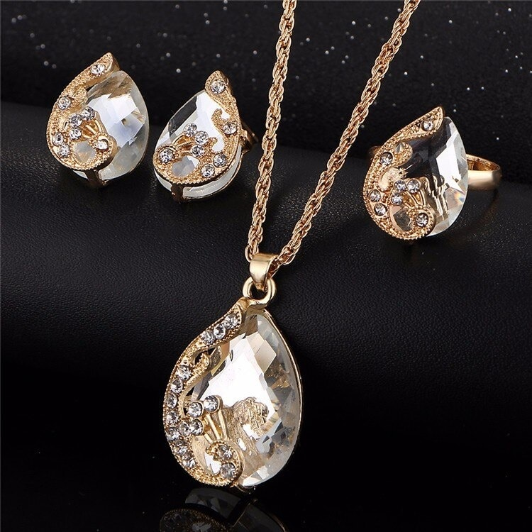 M0329 white2 Jewelry Accessories Jewelry Sets maureens.com boutique