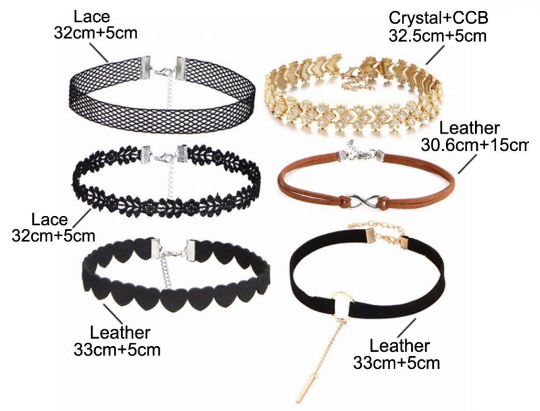 M0330 mixcolor 6sty2 Necklaces Chokers Jewelry Sets maureens.com boutique
