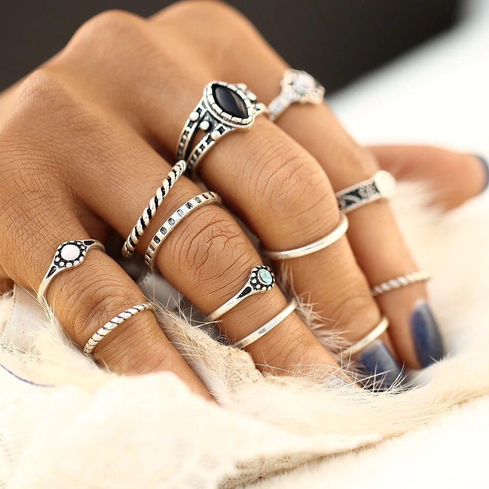 M0332 silver6 Jewelry Sets Rings maureens.com boutique