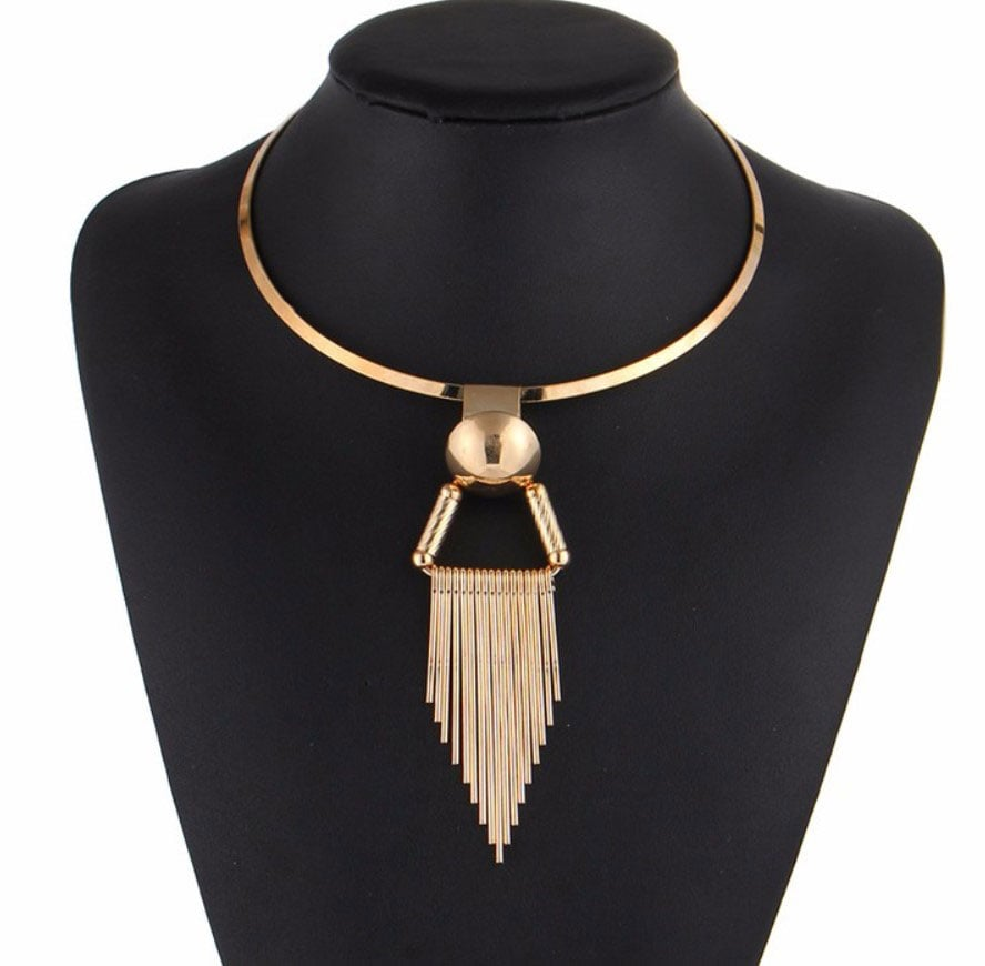 M0335 gold1 Jewelry Accessories Necklaces Chokers maureens.com boutique