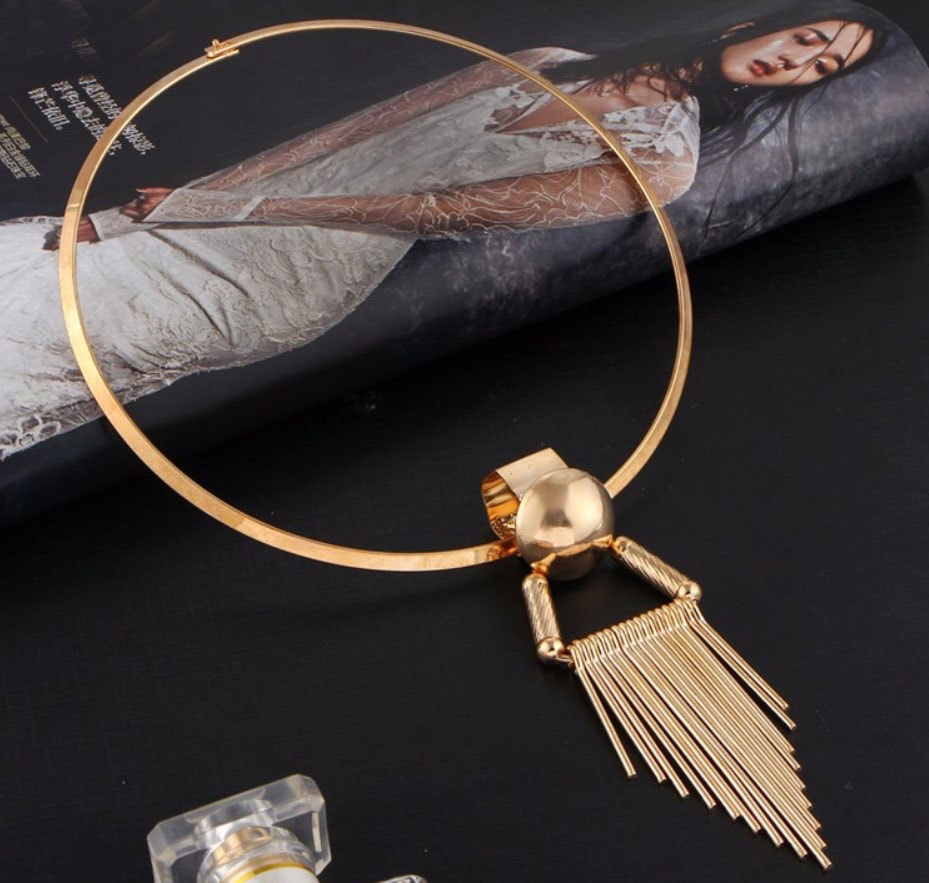 M0335 gold2 Jewelry Accessories Necklaces Chokers maureens.com boutique
