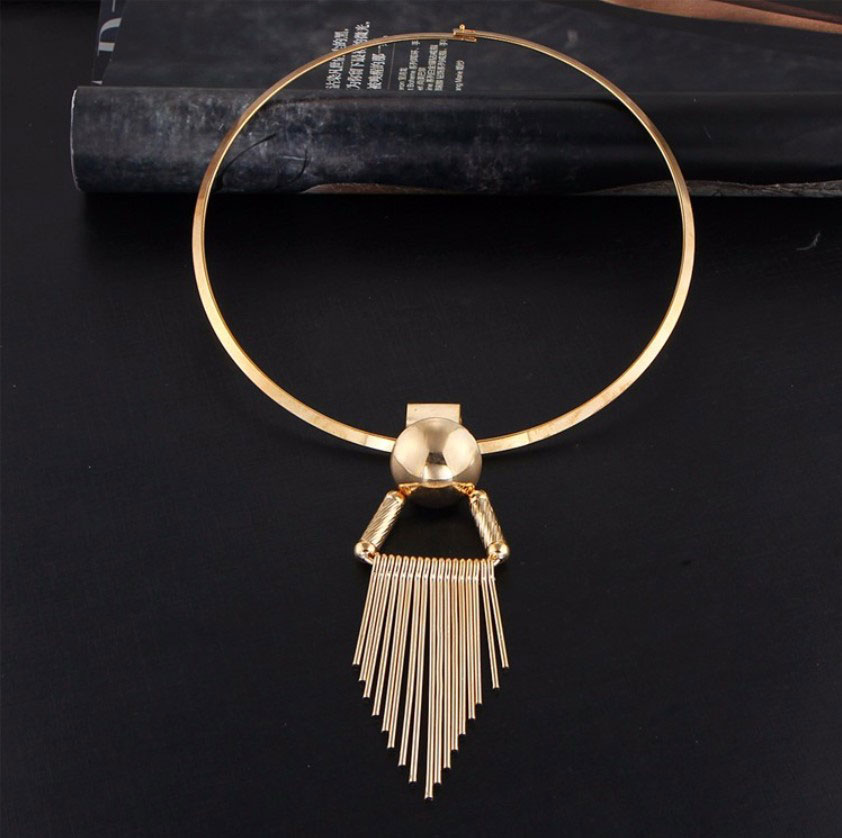 M0335 gold3 Jewelry Accessories Necklaces Chokers maureens.com boutique