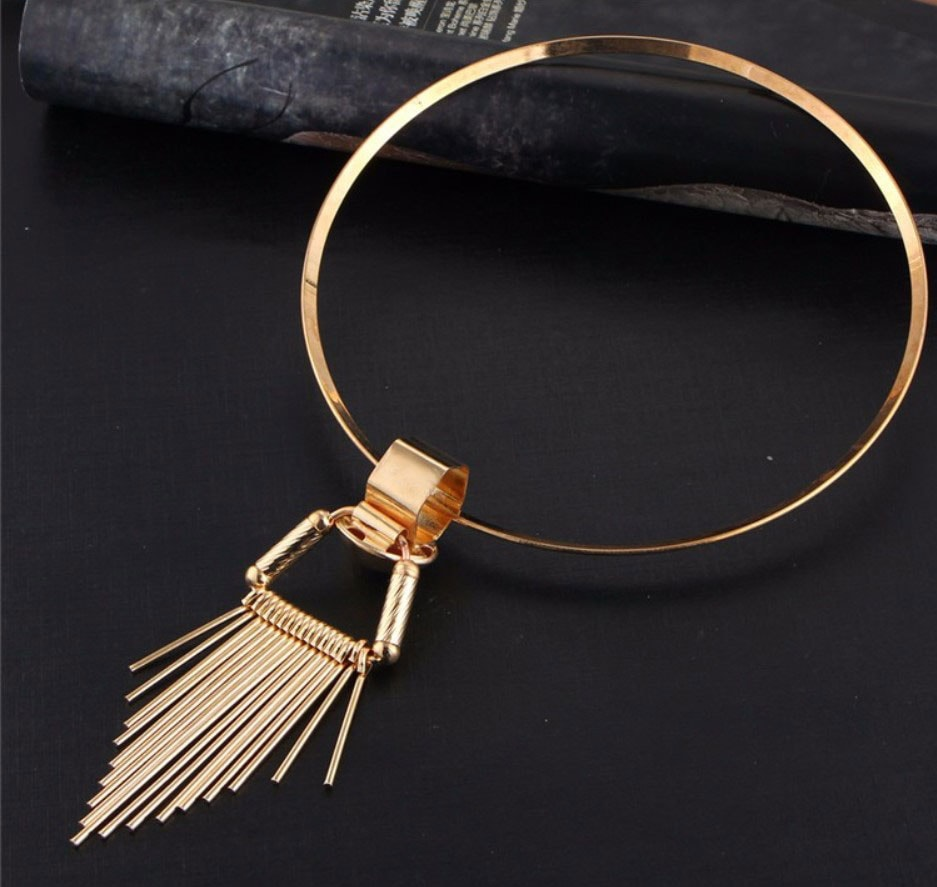 M0335 gold4 Jewelry Accessories Necklaces Chokers maureens.com boutique