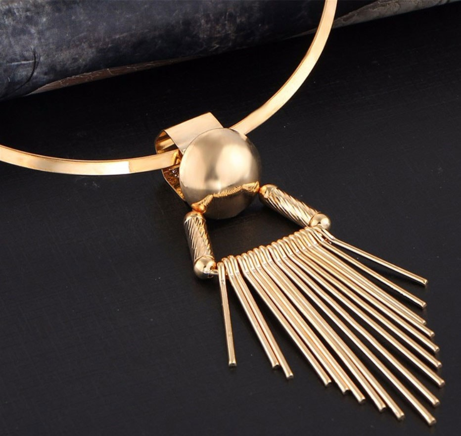 M0335 gold5 Jewelry Accessories Necklaces Chokers maureens.com boutique
