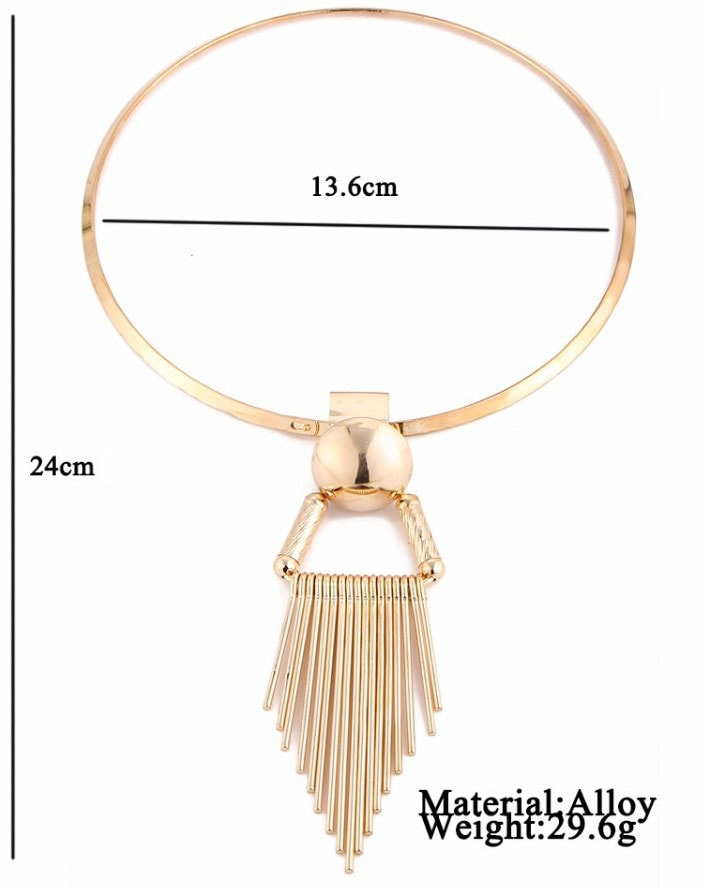 M0335 gold8 Jewelry Accessories Necklaces Chokers maureens.com boutique