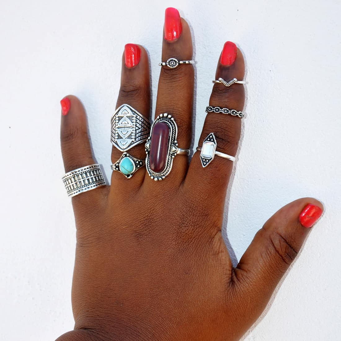 M0338 silver7 Jewelry Sets Rings maureens.com boutique
