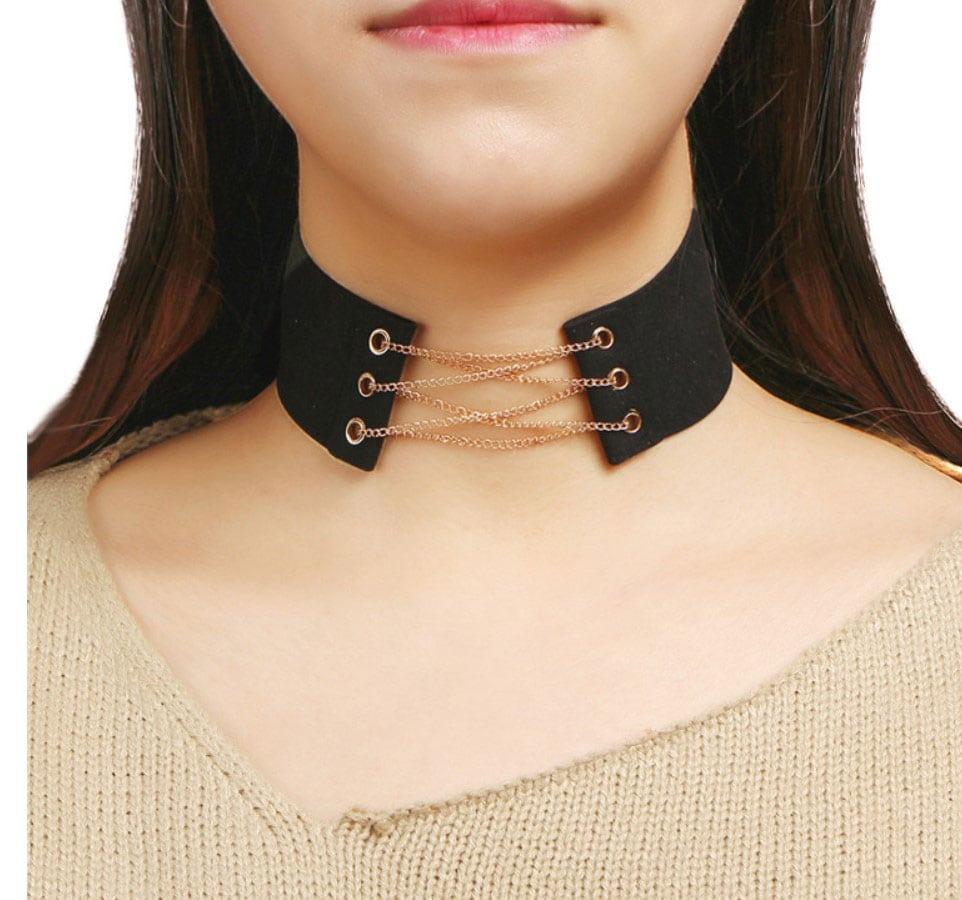 M0341 black3 Jewelry Accessories Necklaces Chokers maureens.com boutique