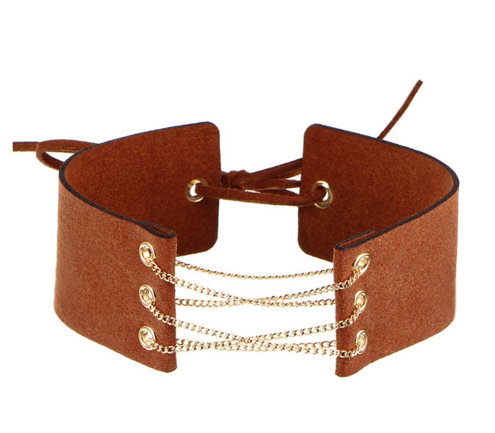 M0341 brown1 Jewelry Accessories Necklaces Chokers maureens.com boutique