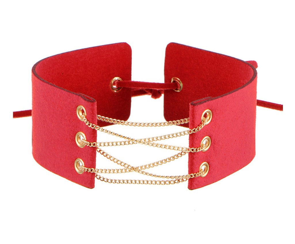 M0341 red1 Jewelry Accessories Necklaces Chokers maureens.com boutique
