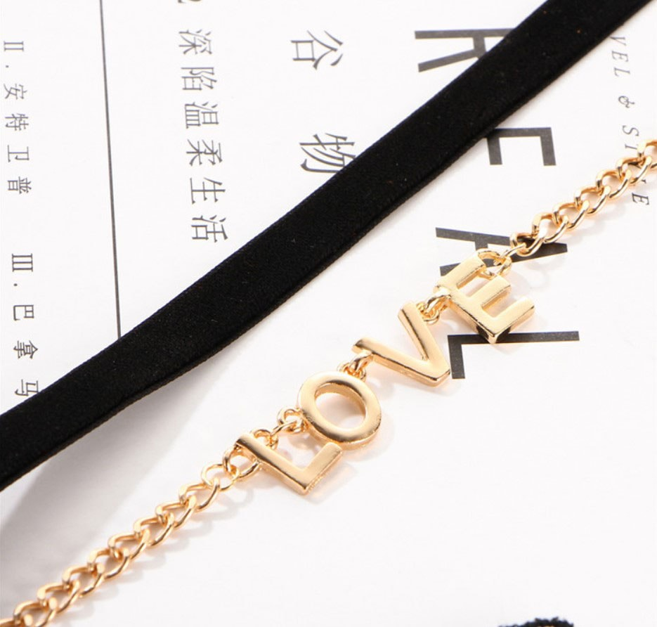 M0342 blackgold4 Jewelry Accessories Necklaces Chokers maureens.com boutique