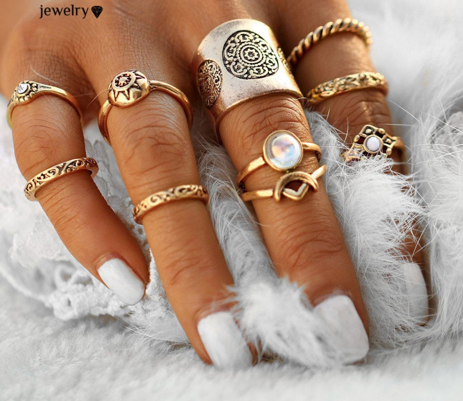 M0343 gold6 Jewelry Sets Rings maureens.com boutique