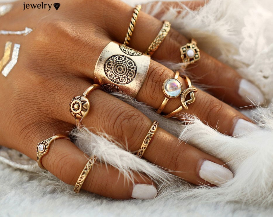 M0343 gold7 Jewelry Sets Rings maureens.com boutique