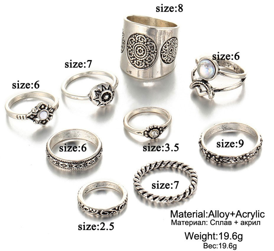 M0343 silver4 Jewelry Sets Rings maureens.com boutique